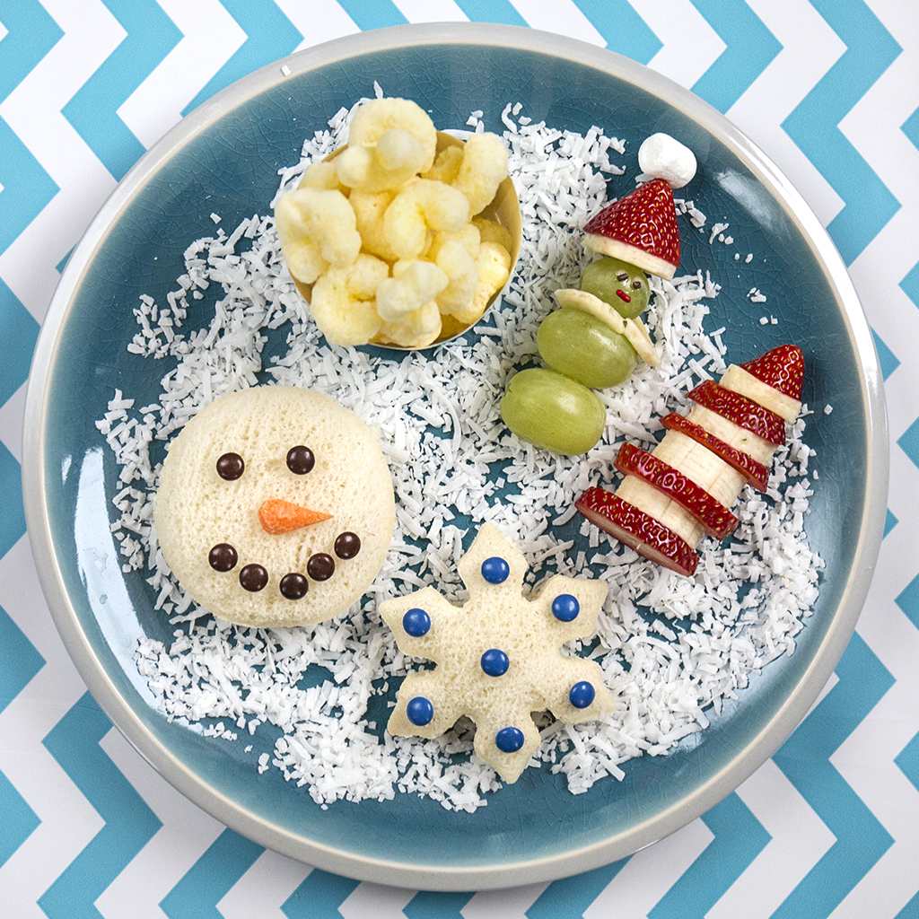 Winter-themed Snack Plate