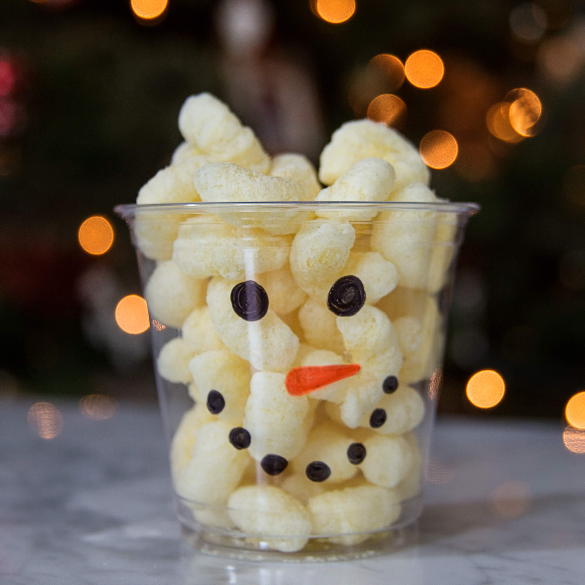 Snowman Snack Cups